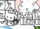 Coloriage de No�l Hello Kitty