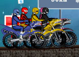 Course de Moto Power Rangers